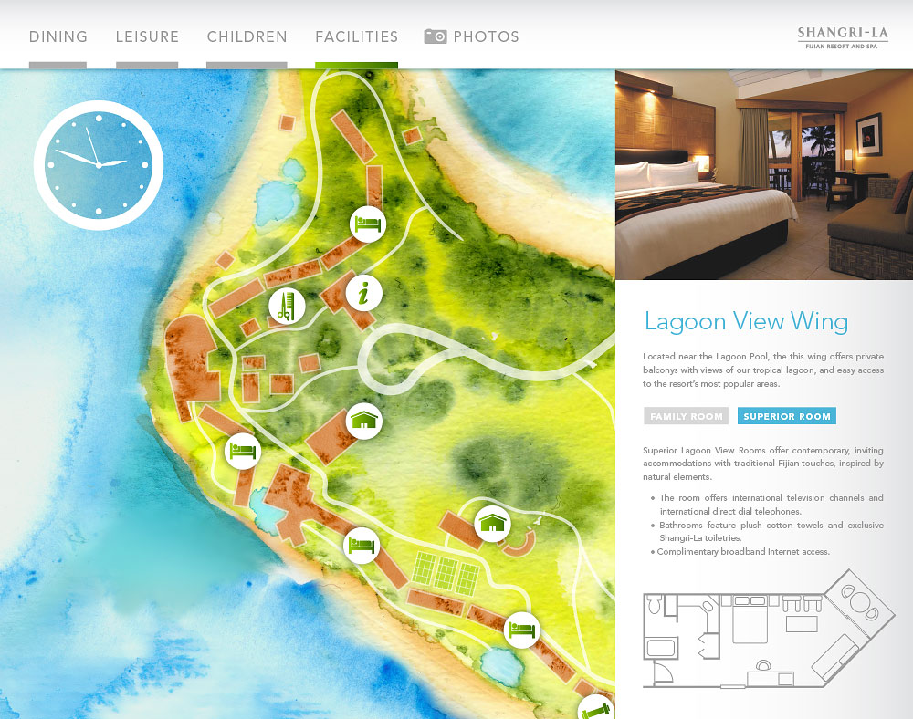 Fijian Resort map Lagoon View wing floorplan