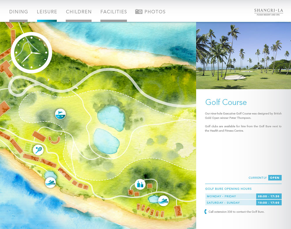 Fijian Resort map golf course