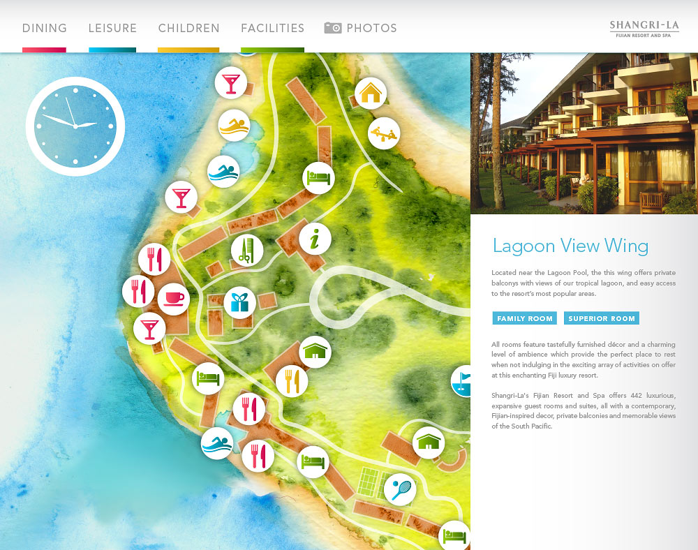 Fijian Resort map Lagoon View wing