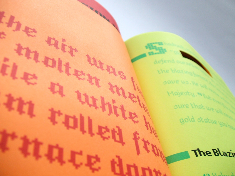 Paper Hyperlinks book blackletter pixel font