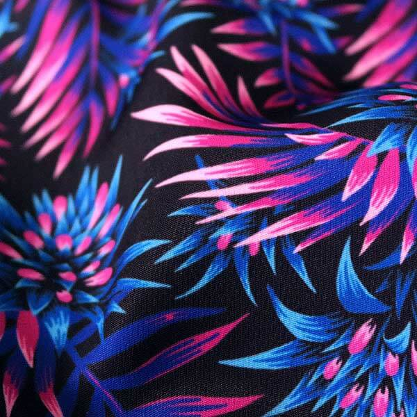 Tropical floral fabric pattern summer collection by Andrea Stark