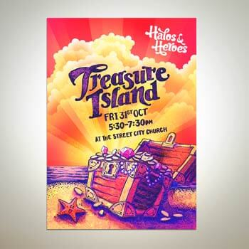 Treasure Island advertising by Andrea Stark