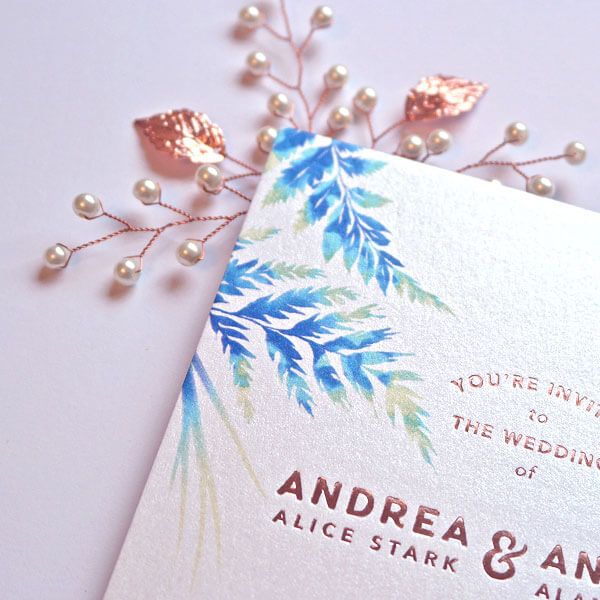 Wedding invitation suite by Andrea Muller