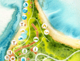 Interactive Fijian Resort map