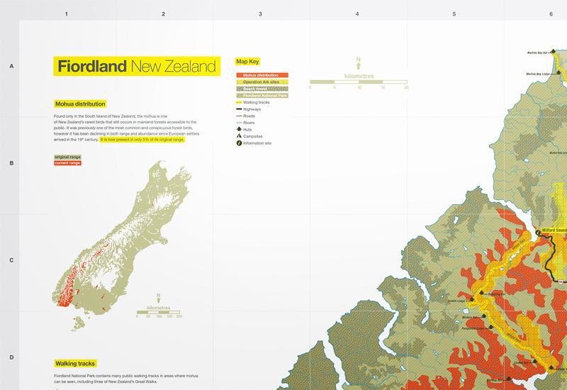 Fiordland Map Andrea Muller Design Portfolio
